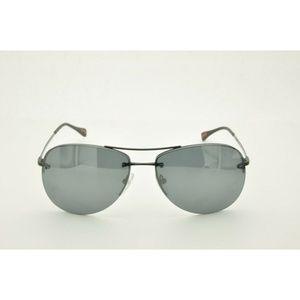 Prada SPS 50R Sunglasses 7AX-5L0 Black Gray Lenses